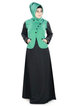 Womens Abaya Green Color Rubiya