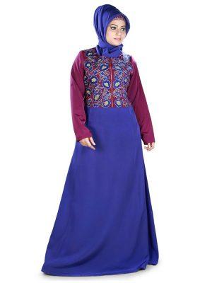 Womens Abaya Maroon Color Casual Wear