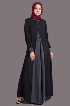 Womens Abaya Black Color Formal Muslim Wear