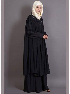 Womens Abaya Black Color Casual Wear
