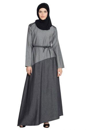 Womens Abaya Grey Color Maxi Dress