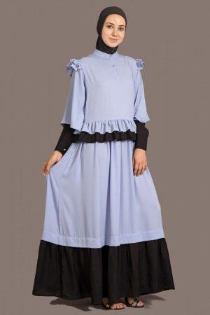 Womens Abaya Blue & Black Color Daily Wear