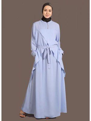 Womens Abaya Blue Color Maxi Dress