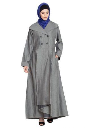 Womens Abaya Grey Color Daily Wear