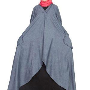 Womens Abaya Blue & Black Color Designer Wear