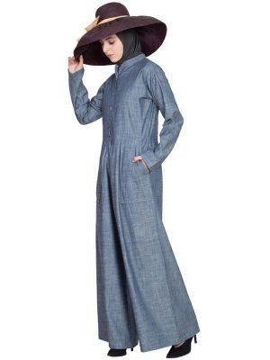 Womens Abaya Blue Color Graceful