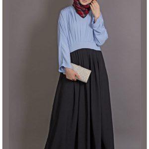 Womens Abaya Blue & Black Color Casual Wear