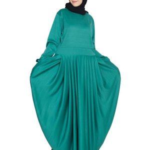 Womens Abaya Green Color Fancy