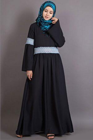 Womens Abaya Black Color Evening Dress