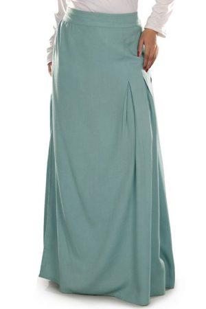 Blue Color Skirt-Rayon Skirt