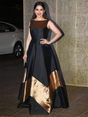 Madhuri Dixit Zoya Silk Multi Work Bollywood Gown