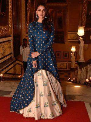 Designer Hevy Sub Silk Thread Work Bollywood Gown