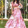 Alia Bhatt Soft Taffeta Digital Print Pink Bollywood Lehenga