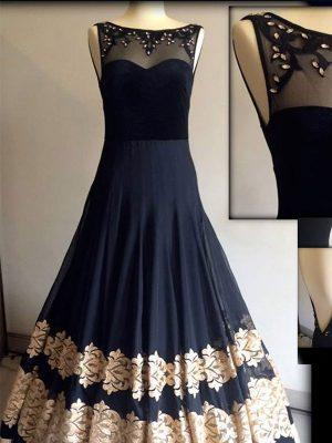 Taffeta Silk Thread & Multi Work Bollywood Gown