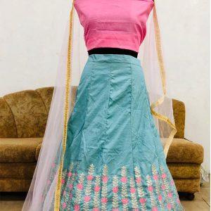Noora Silk Grey Colour Bollywood Lehenga