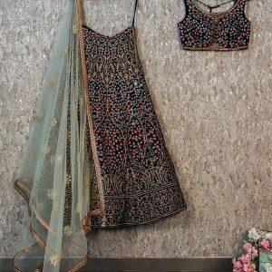 Taffeta Silk Multicolor Bollywood Lehenga