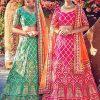 Malbari Silk Rani Pink Colour Bollywood Lehenga