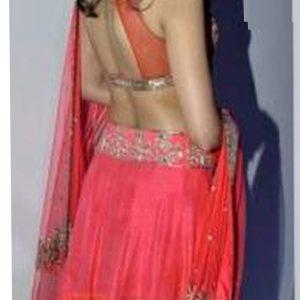 Esha Gupta Georgette Silk Pink Bollywood Lehenga