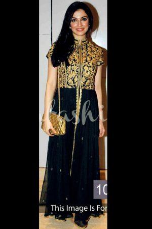 Divya Khosla Black Queen Georgette Bollywood Suit