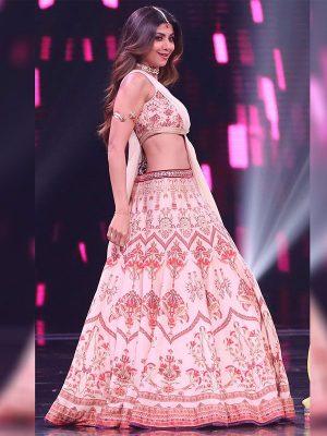 Buy New Shilpa Shetty Digital Print Celebrity Wear Lehenga Choli