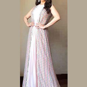Buy New Madhuri Pink Villa Madhuri Dixit Celebrity Wear Gown
