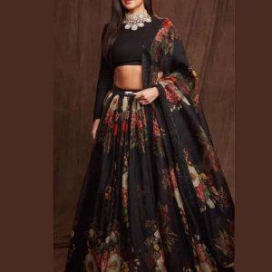 Buy New Katrina Kaif Organza Silk Lehenga Choli