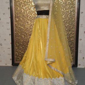 New Arrivals Wedvibes Yellow Designer Lehenga Choli