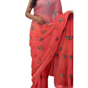 Latest Pending Pink Replica Saree