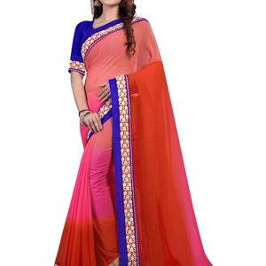 Latest Padding Georgette Multi Color Bollywood Replica Saree
