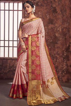 Red Art Silk Party Wear Saree