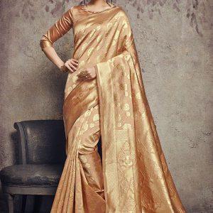 Mustard Art Silk Party Wear Saree