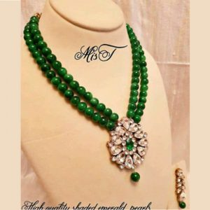 Kundan Pearl Beaded Necklace Set for Women