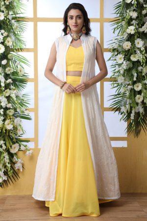 Yellow Designer Wedding & Party Wear Lehenga Choli