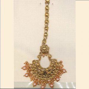Designer Golden Colour Metal Latest Matha Patti for women