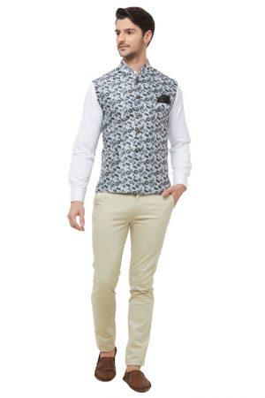 Black Colour Silk Blend Modi Jacket