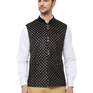 Black Colour Velvet Modi Jacket