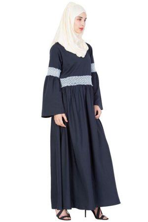 Womens Abaya Blue Color Fancy