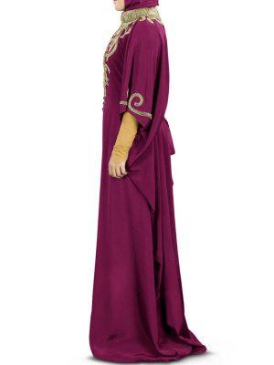 Womens Abaya Purple Color Extraordinary