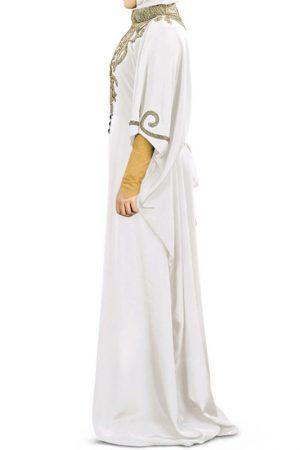 Womens Abaya White Ethnic Nayyab