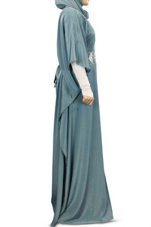 Womens Abaya Grey Color Casual Wear
