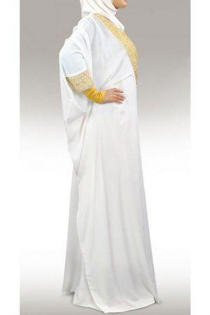 Womens Abaya White Color Grand Walidah