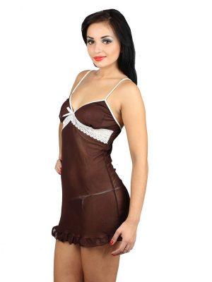 Brown Chocolaty Girl Chemise Dress
