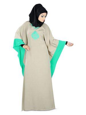 Womens Blue Color Charmer Muskan Abaya