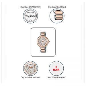 Casio Sheen SHE-3034SPG-7AUDR (SX185) Rose Gold Women's Watch