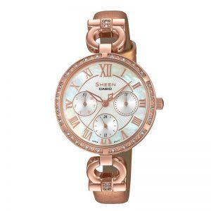 Casio Sheen SHE-3067PGL-7BUDF (SX267) Multi Dial Women's Watch