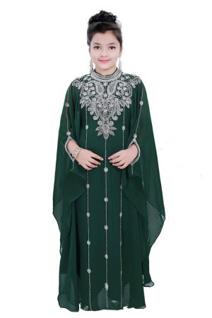 Eleagnt Modern Arabic Kaftan Dress For Women Wedding Gown