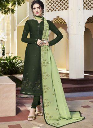 Green Georgette Ready To Ship Salwar Kameez