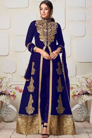Blue Georgette Pakistani Salwar Kameez