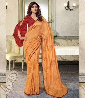 Traditional Mix Indian Bollywood Shilpa Shetty Saree