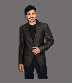 Perfectly Fitting Wear Fashion Dark Grey Designer Blazers